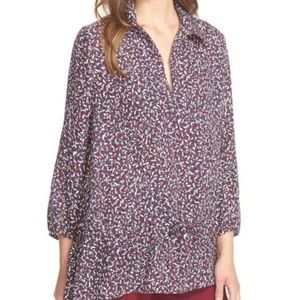Tory Burch Cloque Drop Waist Tunic